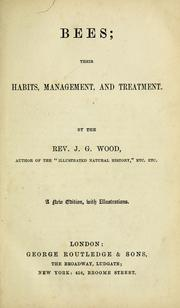 Cover of: Bees: their habits, management and treatment.