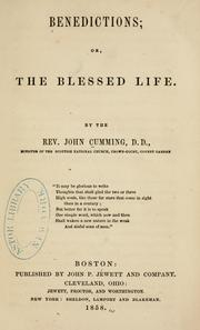Cover of: Benedictions; or, The blessed life