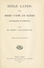 Cover of: Bible lands