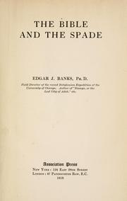 Cover of: The Bible and the spade