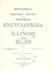 Cover of: Biographical and memorial edition of the Historical encyclopedia of Illinois