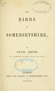 Cover of: The birds of Somersetshire