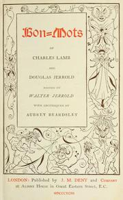 Cover of: Bon-mots of Charles Lamb and Douglas Jerrold