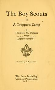 Cover of: The boy scouts in a trapper's camp