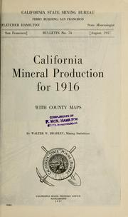 Cover of: California mineral production for 1916, with county maps