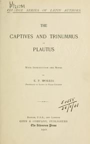 Cover of: The Captives and Trinummus