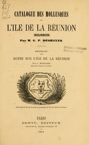 Cover of: Catalogue des mollusques de l'île de la Réunion (Bourbon)