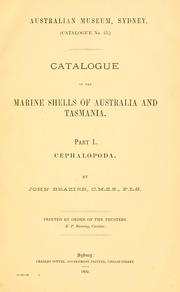 Cover of: Catalogue of the Marine shells of Australia and Tasmania