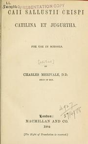Cover of: Catilina et Jugurtha: for use in schools