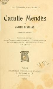 Cover of: Catulle Mendès