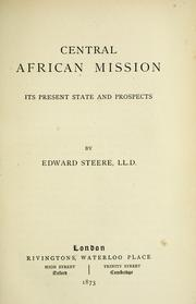 Cover of: Central African Mission