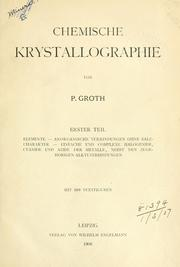 Cover of: Chemische Krystallographie