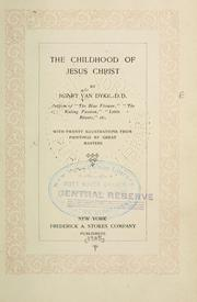 Cover of: The childhood of Jesus Christ