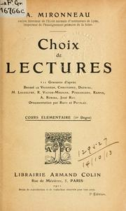 Cover of: Choix de lectures