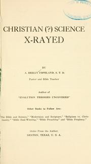 Cover of: Christian (?) science X-rayed