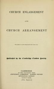 Cover of: Church enlargement and church arrangement