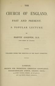 Cover of: The Church of England, past and present: a popular lecture