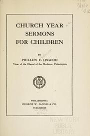 Cover of: Church year sermons for children