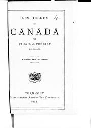 Cover of: Les Belges au Canada