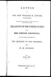 Cover of: Letter to the Hon. William H. Seward, secretary of state