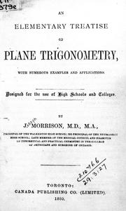 Cover of: An elementary treatise on plane trigonometry