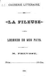 Cover of: La fileuse ou Légende de mon pays