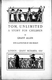 Cover of: Tom, unlimited: a story for children