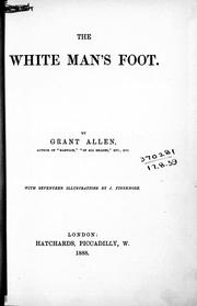 Cover of: The white man's foot