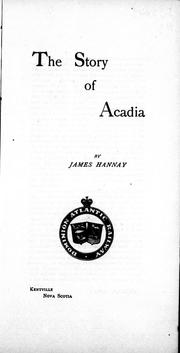 Cover of: The story of Acadia
