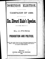 Cover of: Prohibition and politics