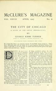 Cover of: The city of Chicago