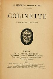 Cover of: Colinette