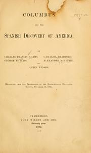 Cover of: Columbus and the Spanish discovery of America