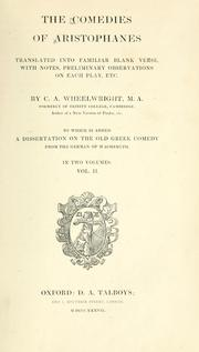 Cover of: The  comedies of Aristophanes