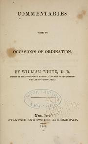 Cover of: Commentaries suited to occasions of ordination