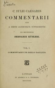 Cover of: Commentarii