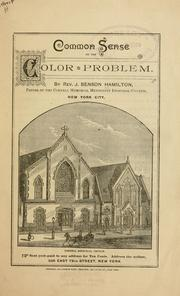 Cover of: Common sense on the color problem
