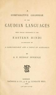 Cover of: A comparative grammar of the Gaudian languages