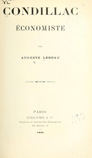 Cover of: Condillac