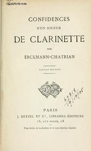 Cover of: Confidences d'un joueur de clarinette