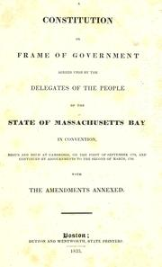 Cover of: A constitution or frame of government