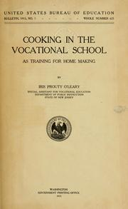Cover of: Cooking in the vocational school as training for home making