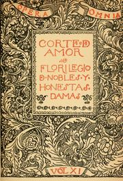 Cover of: Corte d'amor: florilegio d'honestas y nobles damas.