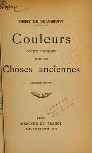 Cover of: Couleurs