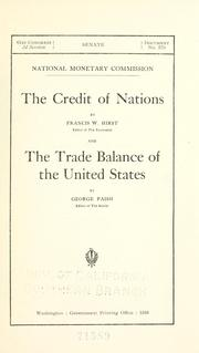 Cover of: The credit of nations
