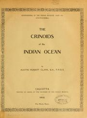 Cover of: The crinoids of the Indian Ocean