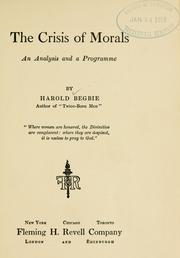 Cover of: The crisis of morals