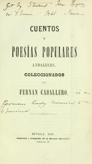 Cover of: Cuentos y poess populares andaluces