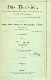 Cover of: Cumacea (Sympoda)