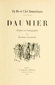 Cover of: Daumier, peintre et lithographe